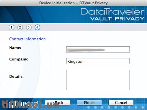 Подключение флешки с аппаратным шифрованием Kingston Vault Privacy к Mac OS X