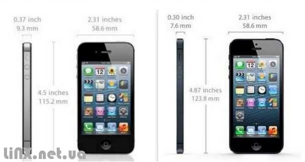Размеры iPhone 5