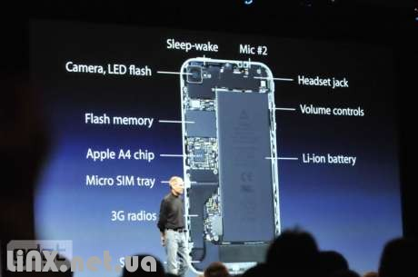 Внешние органы управления iPhone 4