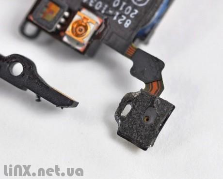 Шлейф кнопки Power с сенсорами и микрофоном для iPhone 4