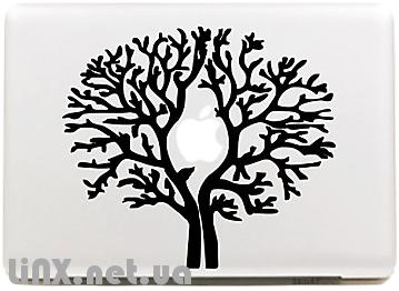 """Наклейка на Mac """"Сосна"""""""