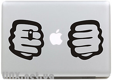 """Наклейка на Mac """"кулак"""""""