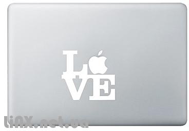 Наклейка на Mac любовь