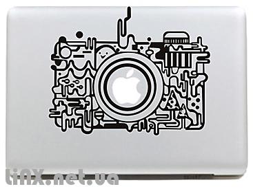Наклейка на Mac ретро камеры