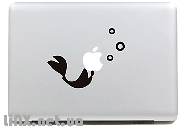 """Наклейка на Mac """"рыба"""""""