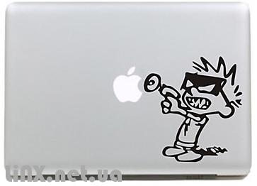 """Наклейка на Mac """"шаблон зашиты"""""""