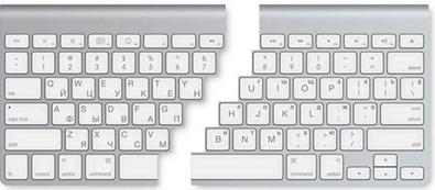 Гравированная клавиатура Apple
