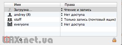 Добавить пользователя в права доступа mac