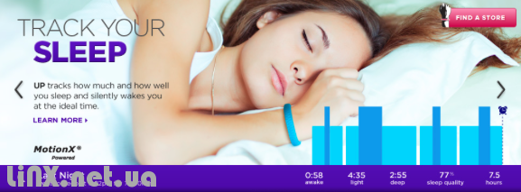 Jawbone up 2 учет сна