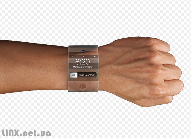 iWatch на руке прозрачные