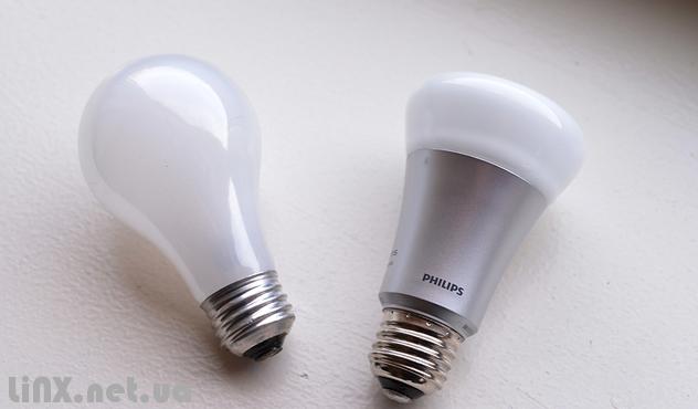 Philips Hue и обычная лампочка