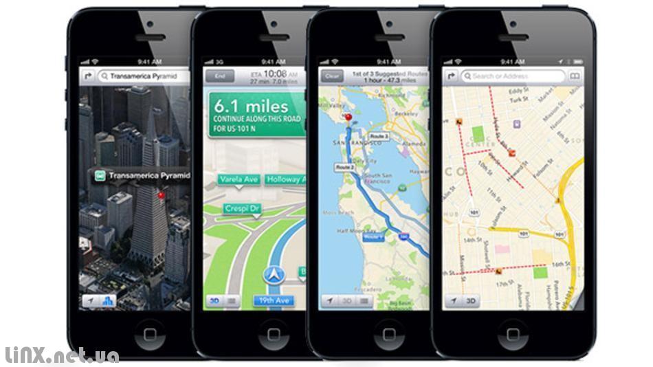 Google карты Apple карты и конкуренты
