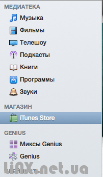 iTunes Store в iTunes